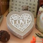 wooden heart shape storage box (Storage & Organization)