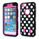 Calans Apple iPhone 6S Plus iPhone 6 Plus Dots Shockproof Case Cover-Hot Pink (Mobile Phone Accessories)