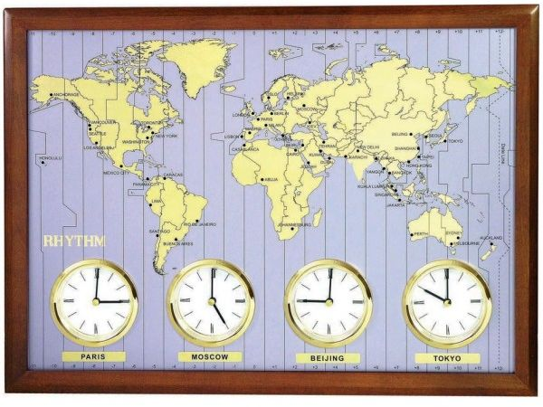 Rhythm CMW902NR06 World Time Wall Clock price review and buy in
