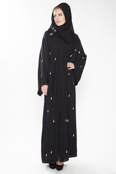 Almira Black Religion Abaya For Women