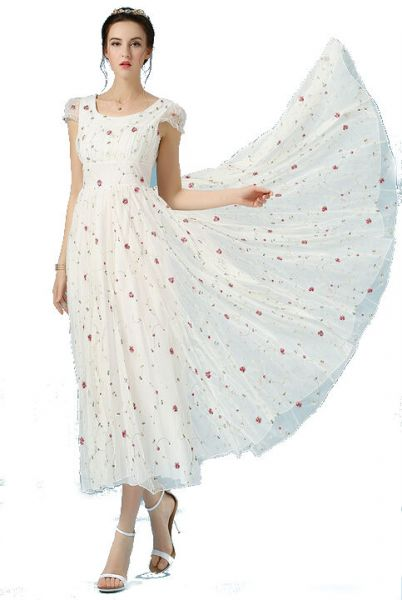 Buy White Chiffon Special Occasion Dress For Women ...