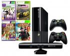 Microsoft Xbox 360 Stingray - 4GB, 2 Controllers, Kinect and 4 Games (Game Console)