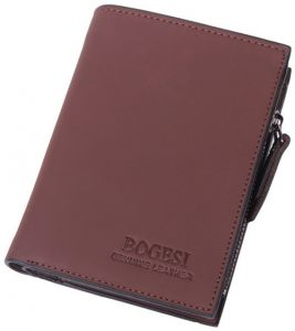 Pockets Credit Card Holder Dull Clutch Bifold Mens Coin Purse Wallet