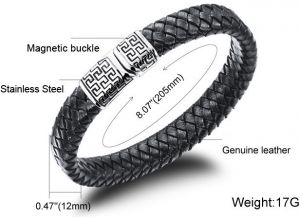 2105 Fashion Tatainum Steel Leather Specical Men Bracelet as Gift for ...