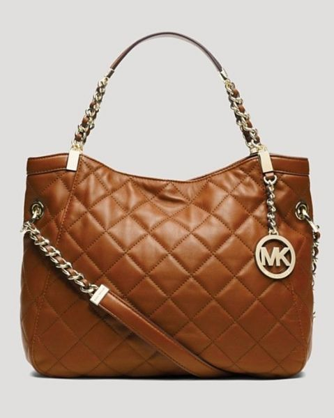 7f29623a2a87 Michael Kors Susannah Medium Quilted Leather Tote Shoulder Bag