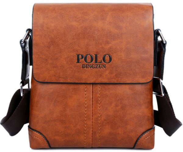 Men Leather Dingzun POLO Brand cross body Messenger bag classic ...