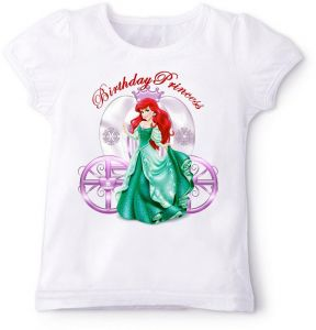 7eb7807b8f6491 Disney Princess Little Mermaid Ariel Birthday T-Shirt