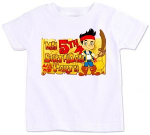 Jake And The Neverland Pirates My 5Th Birthday Party T Shirt