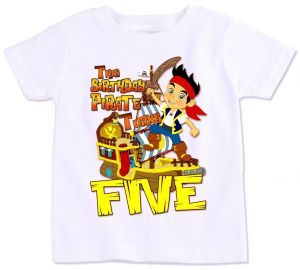 Jake And The Neverland Pirates With This Birthday Pirate Turns Five T Shirt