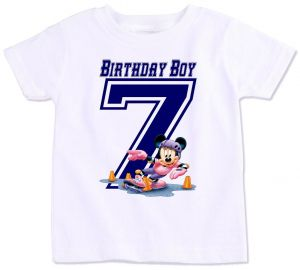 Mickey Mouse With Birthday Boy 7 T Shirt