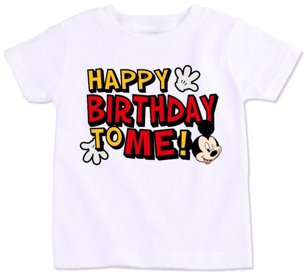 Mickey Mouse With Happy Birthday To Me T Shirt 5 Years