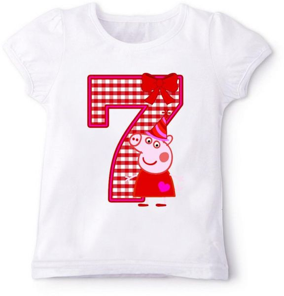 Peppa Pig 7Th Birthday T Shirt