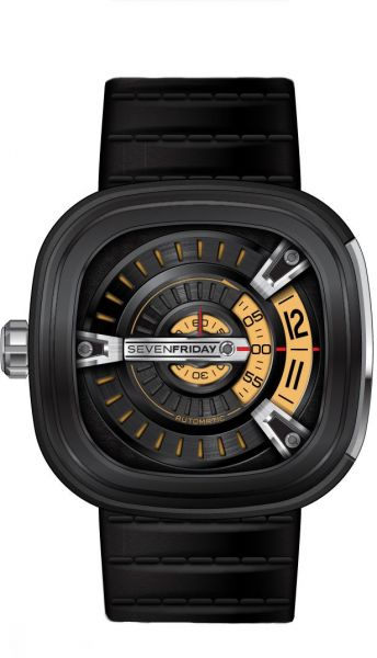 Buy sevenfriday men 39 s black dial leather band automatic watch m2 01 watches uae souq for Sevenfriday watches