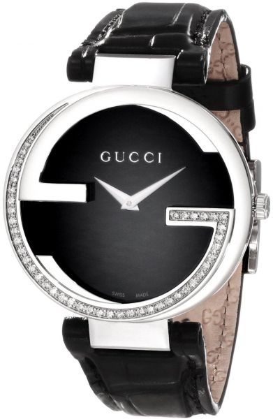 3ed93c8f762 Gucci Black Leather Black dial Classic for Women  YA133305