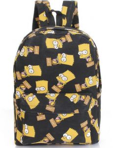 Canvas Backpacks Simpsons Printing School Bags For Teenagers Girls and kids  Shoulder Bag fb888bad0960f