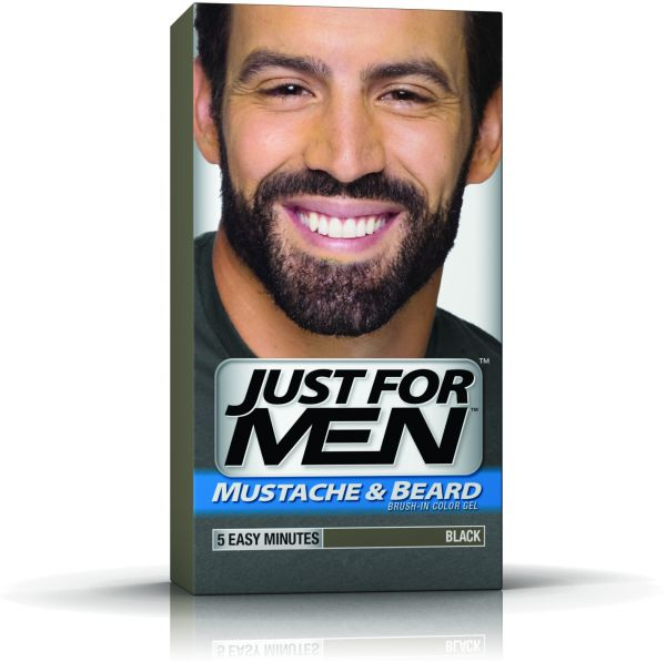 Just for Men Mustache & Beard Brush-In Color Gel - Black, price ...