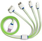 Multi USB Cable Charger for Phones 4 in 1 Cable for Android IPhone Samsung Sony Nokia (Cable)