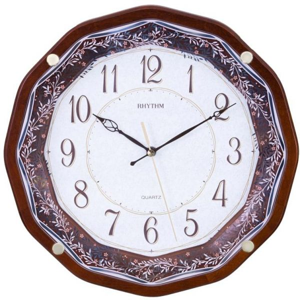 Rhythm CMG969NR06 Wall Clock Brown price review and buy in