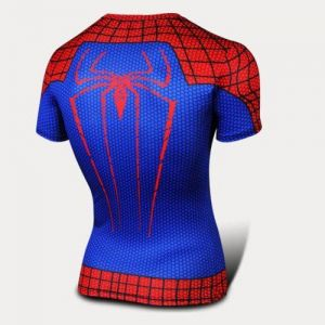 Superhero Marvel Spider-Man Red Comics Costume Sport T-Shirt Short Sleeve  Bicycle T Shirt dc877819a