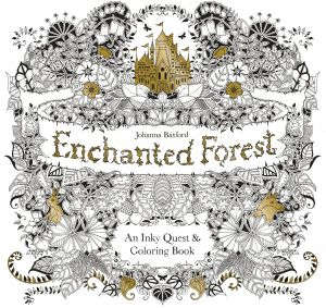 Enchanted Forest - An Inky Quest , Coloring Book