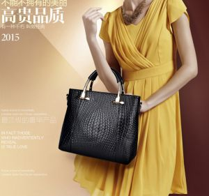 Woman Lady Fashion Crocodile grain handbag Simple Single shoulder bag  Crocodile grain Black xdvb36 935dcee0e9108