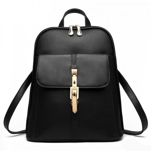 Buy Women Leather Backpack Women School Bag Satchel Travel Bag ...