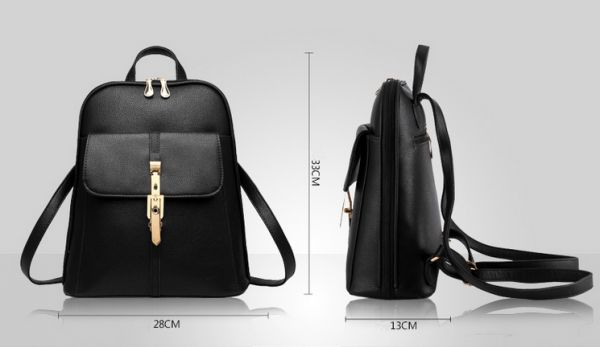 Women Leather Backpack Women School Bag Satchel Travel Bag Ladies ...