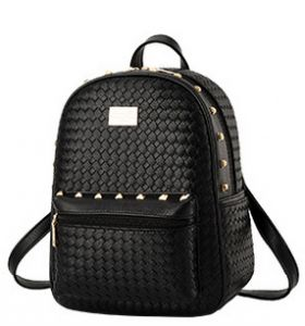 75c14b4677ac Women PU leather Backpack Knit Traveling Bags Daily Backpack College  Student Girl Backpacks