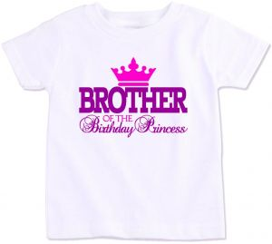 Brother Of The Birthday Princess Family Matching T Shirt 4 Years