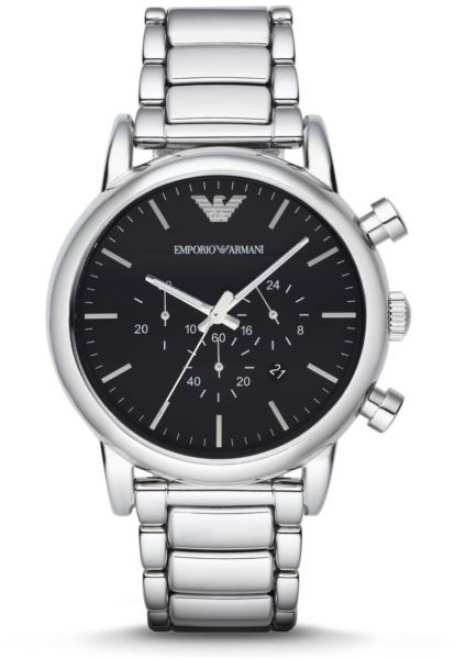 d09f7c44802 Emporio Armani Classic Men s Black Dial Stainless Steel Band Watch - AR1894