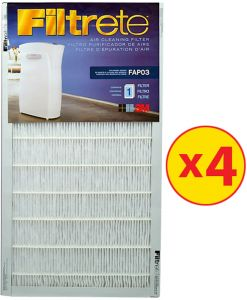 3m filterete ultra clean air purifiers fap03 refill filters pack of 4piece - Filtrete Air Filter