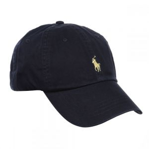 Polo Ralph Lauren Signature Pony Cap with Leather Buckle Strap for Men,  Navy Blue