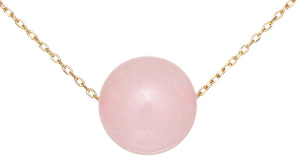 necklace with gemstone quartz pendant htm all pink large teardrop rose p