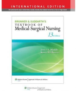 Brunner & Suddarth's Textbook of Medical Surgical Nursing Volume 13 by Janice L. Hinkle - Hardcover