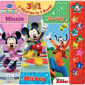 Mickey Mouse Clubhouse: Mickey, Minnie & Goofy: 3 Stories in 1 Book - Hardcover