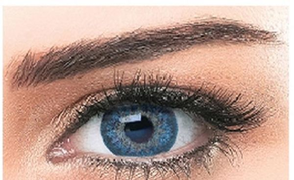 Bella Natural Unisex Cosmetic Contact Lenses - Cool Blue - [ BL-NAT-CLBL  Power 0.00]
