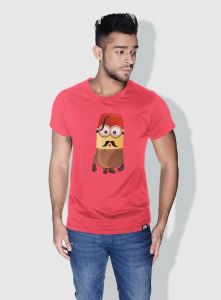 a25b482dcab0 Creo Turkey Minions Round Neck T-Shirt For Men - Pink