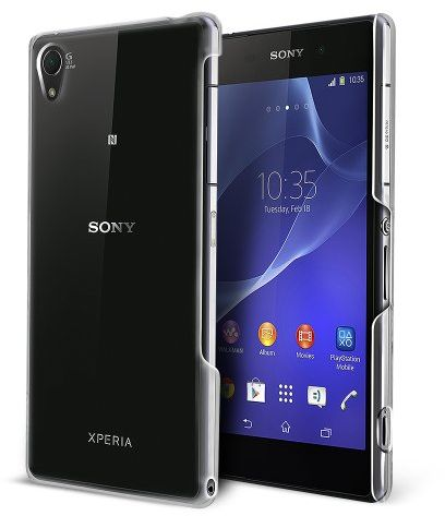 hot sale online 7f77a d8c10 Transparent Back Cover Case for Sony Xperia Z2 - Clear