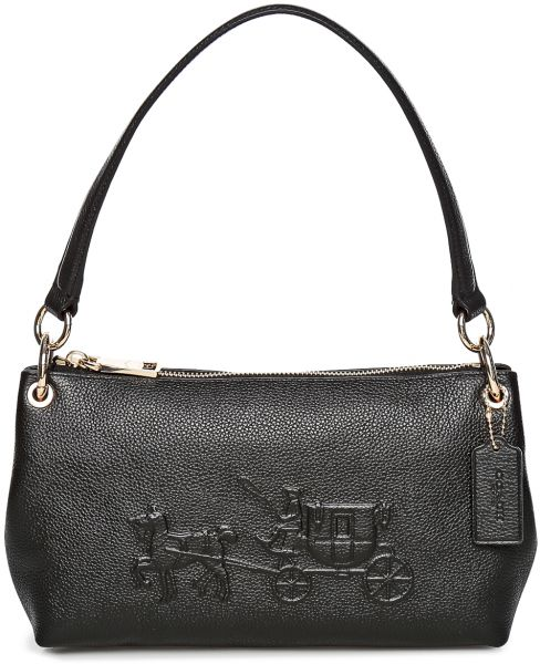1e8af1ceefb3 Coach 33521 LIBLK Embossed Horse Carriage Charley Crossbody Bag for ...