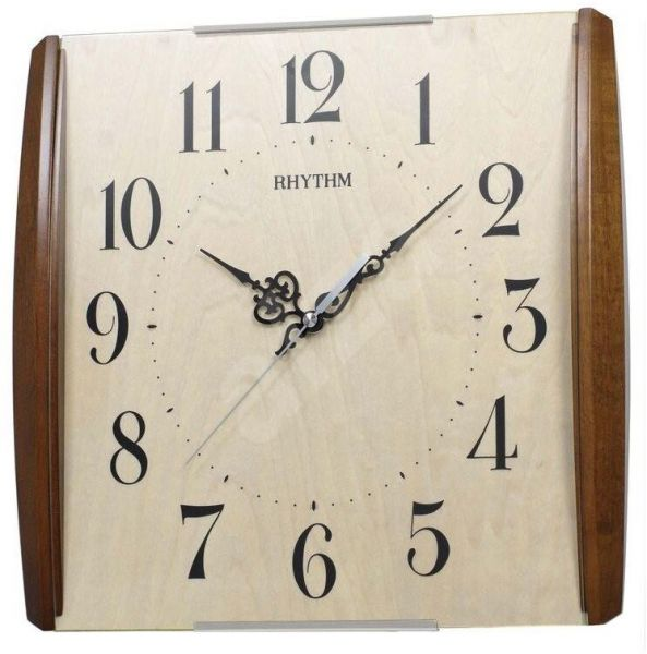 Rhythm Cmg111nr07 Wall Clock Brown price review and buy in