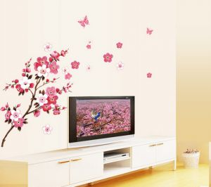 Butterfly Cherry Blossom Flower Tree Branch Wall Decals Decor Kids Baby  Stickers Part 74