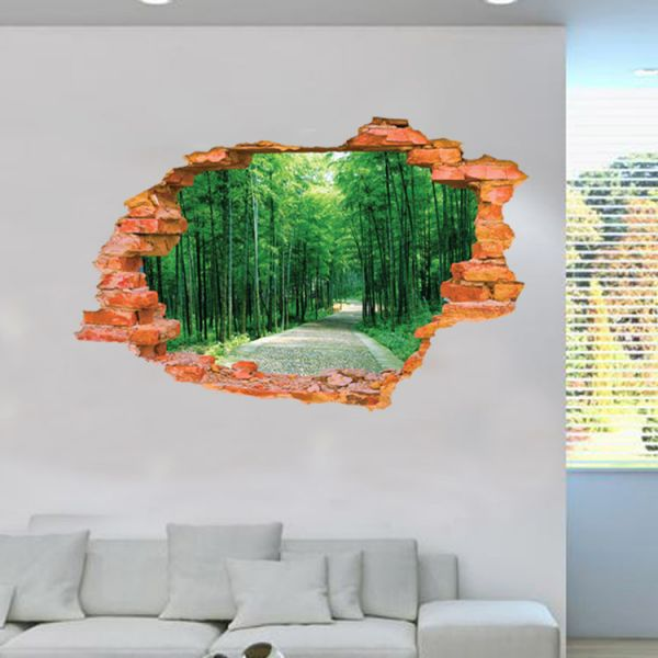 Alameda 3d Wall Sticker For Living Room Bamboo Forest Wallpaper
