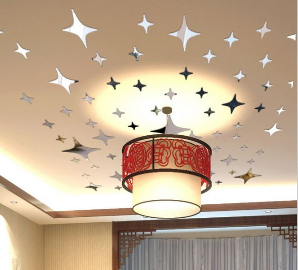3D Mirror Stars Sticker Wall Ceiling Room Home Decor Art DIY Decor  Removable Wall Quote Sticker Part 97