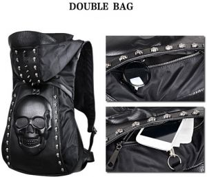 Stylish and personality leather shoulder bag backpack schoolbag Leisure bag  travel bag for men HY119 24c56f8c40