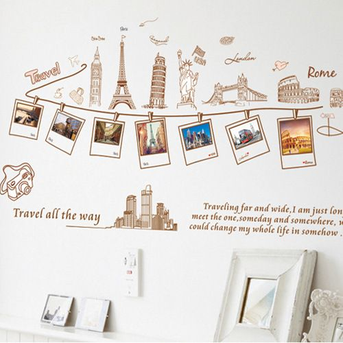 Removable large wallpaper world map wall sticker home decoration removable large wallpaper world map wall sticker home decoration travel photo frame wall decals gumiabroncs Gallery