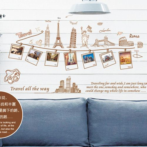 Removable Large Wallpaper World Map Wall Sticker Home Decoration Travel  Photo Frame Wall Decals Part 42