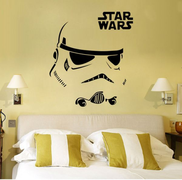 Star Wars Wall Decal Stickers Decor Face Pattern Stickers For Living