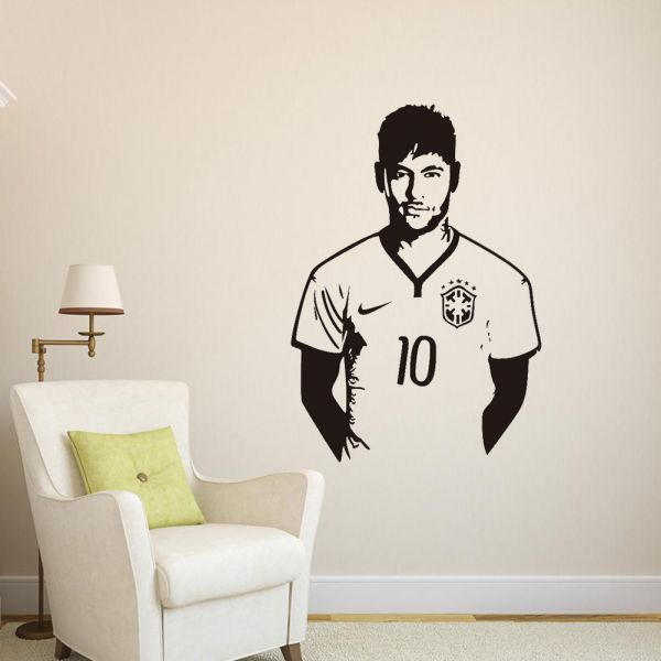 Soccer Sports Celebrity Neymar 3d Wall Sticker Home Decor Wall Decal  Bedroom Living Room Wallpaper, Price, Review And Buy In Dubai, Abu Dhabi  And Rest Of ...
