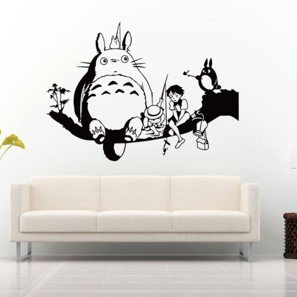My Neighbor Totoro 3d Wall Sticker Home Decor Anime Cartoons For Kids  Bedroom Living Room Wallpaper