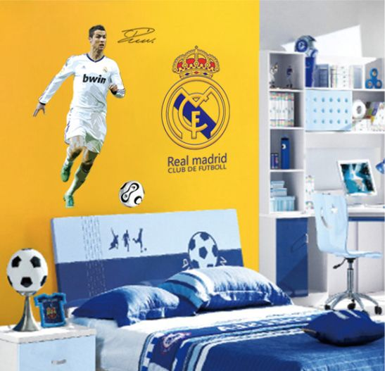 passion football real madrid cristiano ronaldo 3d wall sticker home
